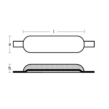 00309 weld on bar Technical Drawing
