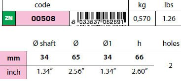 00508 34mm Egg Type Standard Shaft Anode size