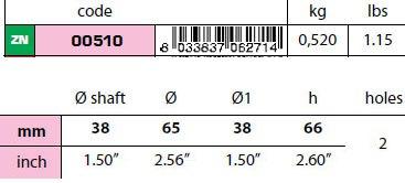 "00510 1 1/2"" Egg Type Standard Shaft Anode size"