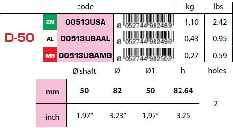 00513USA 50mm Egg Type USA Shaft Anode D-50 size