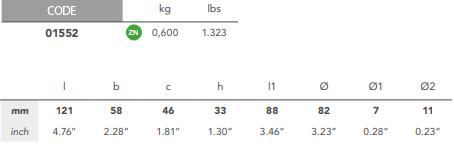 01552: Split Saildrive Collar Anode for Lombardini size