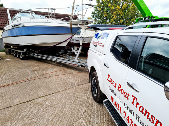 Essex Boat Transport customers boat