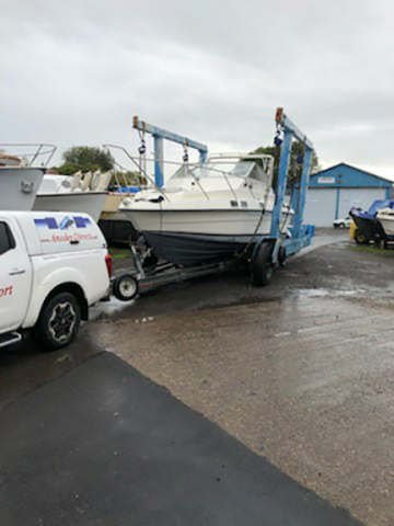 Essex Boat Transport customers boat