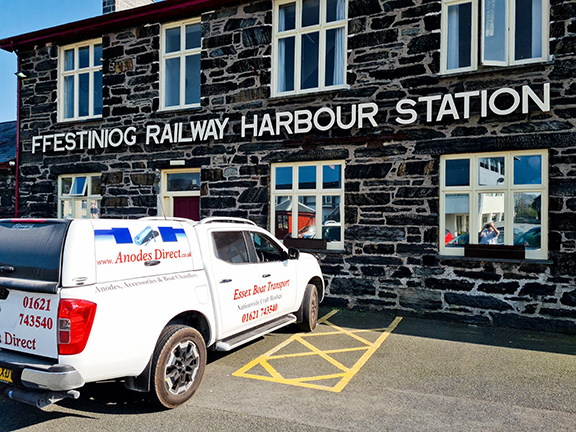 Essex Boat Transport at FFESTINIOG RAILWAY HARBOUR STATION