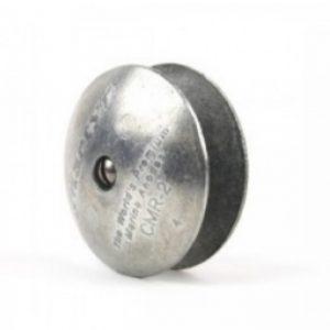 AD59 Aluminium Disc Anode 0.16kg 70mm Diameter (Pair) With Bolt