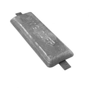 AD60 2.6kg Aluminium Weld On Hull Anode
